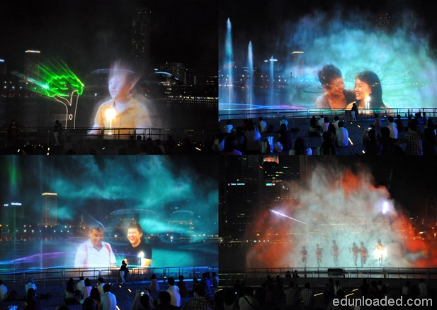 lasershowinSingapore thumb Light and Water Show at Marina Bay Sands