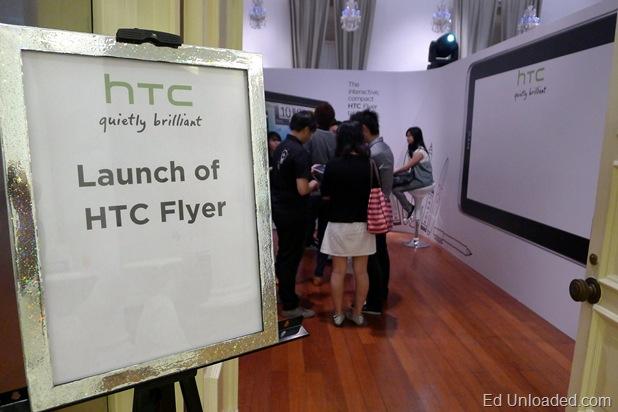 htc flyer launch