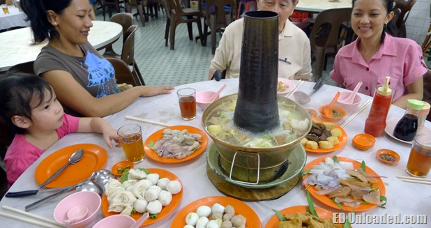 traditional charcoal steamboat