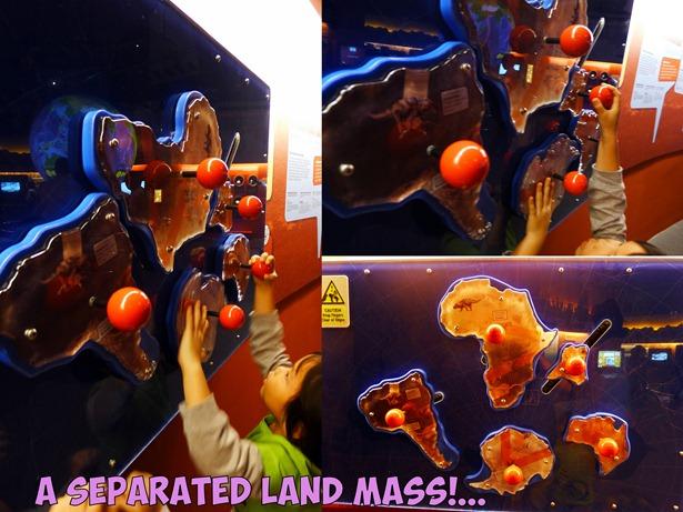 seperated land mass