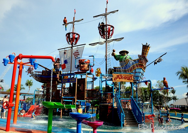 Sentosa water attraction