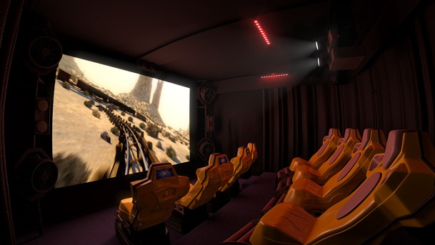 XD 6D Motion Theatre Singapore (Interior shot)