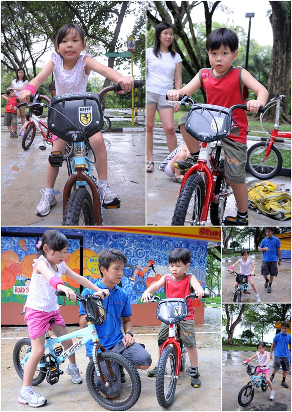 kids cycling collage