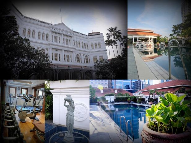 Raffles Hotel collage