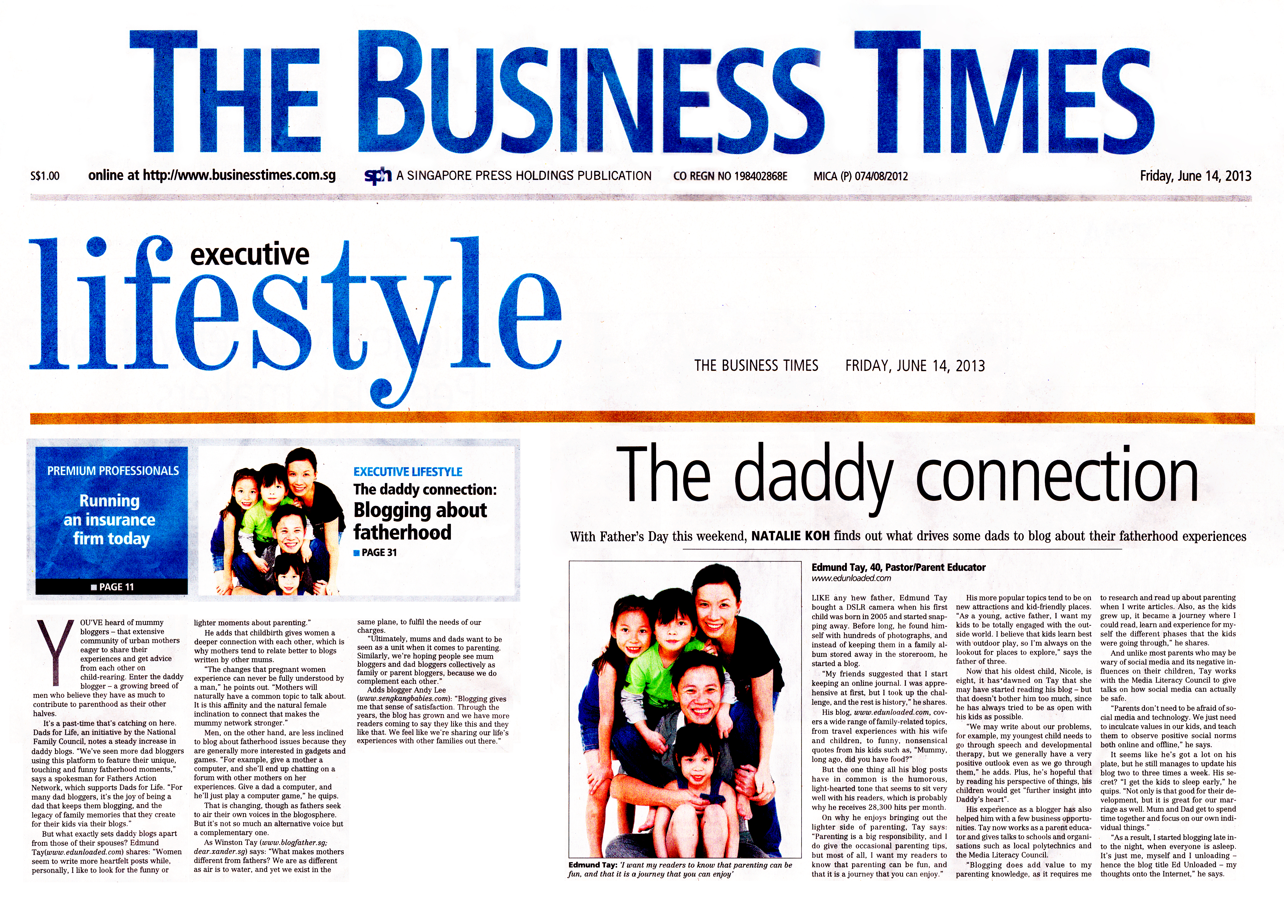 Featured on The Business Times