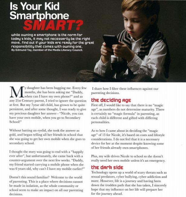 Parents world article