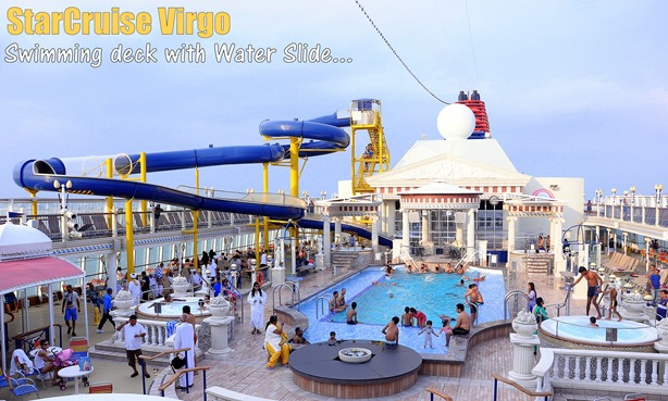 water slides on Starcruise Virgo
