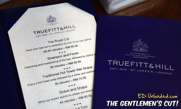 Truefitt and Hill prices