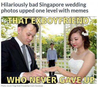 bad wedding photograph