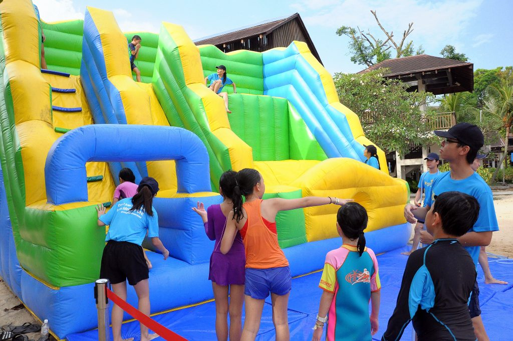 Inflatable kids