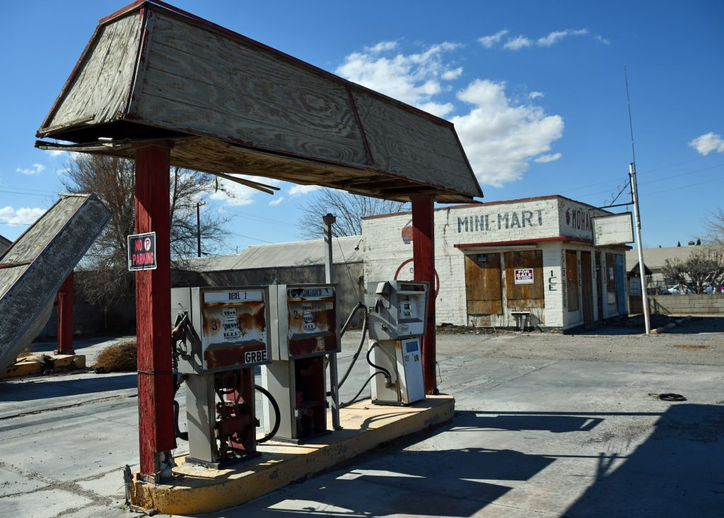 USA historic petrol station