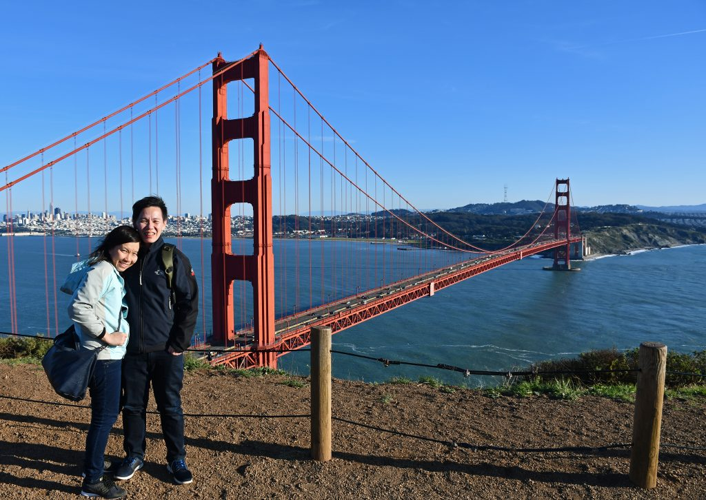 Golden gate bridge viewpoint
